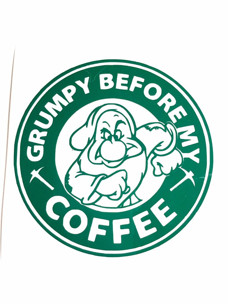 DIY Grumpy Before My Coffee Vinyl Decal You Choose Size and