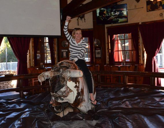 Yahoo!  We always suggest to our Elite Adventure Tours guests when we stop at the Saddle Ranch Chop House on the Sunset Strip that they ride the bull before sitting down to lunch.