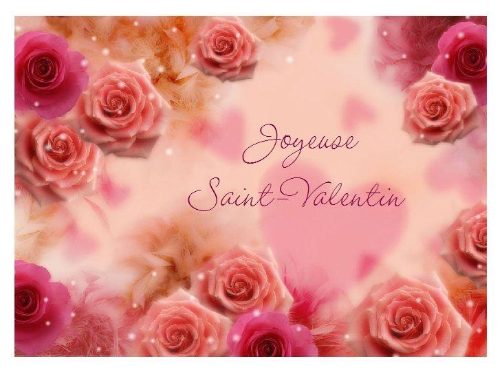 Cartes St Valentin Vœux Pour Texte Damour à Imprimer