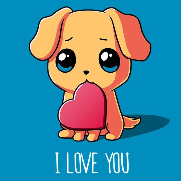 Puppy Love | Puppy drawing, Cute animal drawings, Cute animals