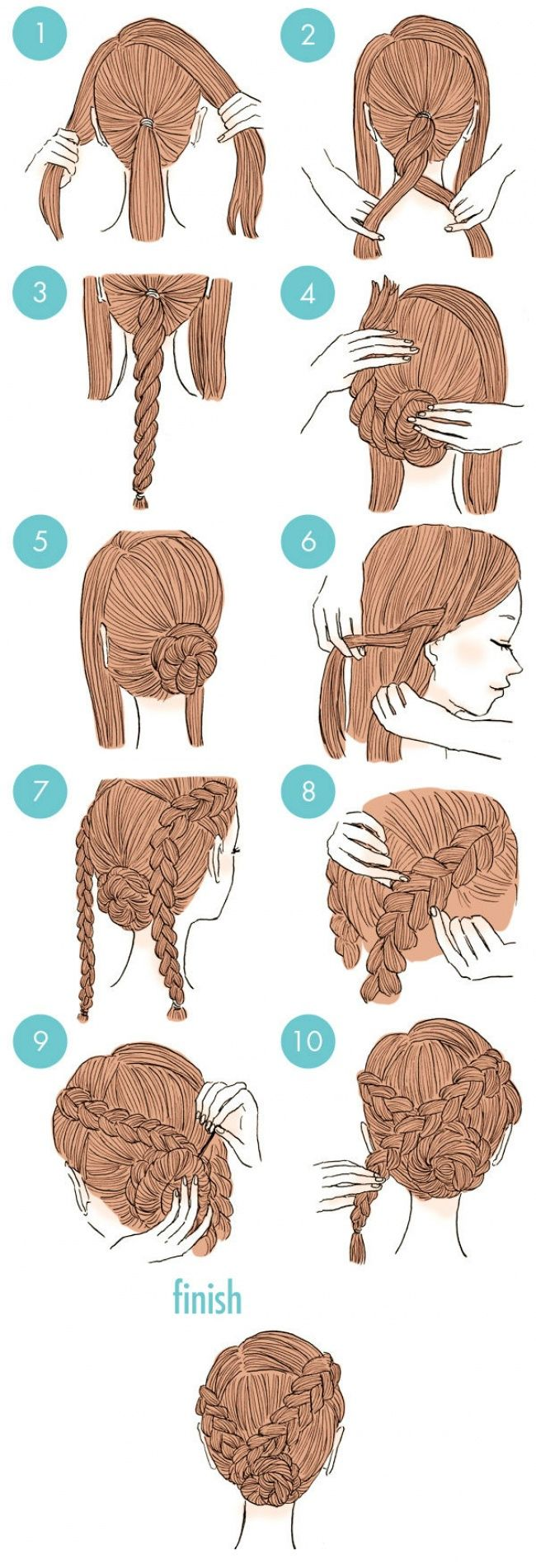 20 Easy And Cute Hairstyles That Can Be Done In Just A Few Minutes                                                                                                                                                     More