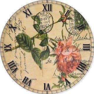 .Printable Clock face