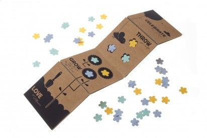 throw and grow confetti - ecofriendly confetti that blooms into wildflowers where it lands!