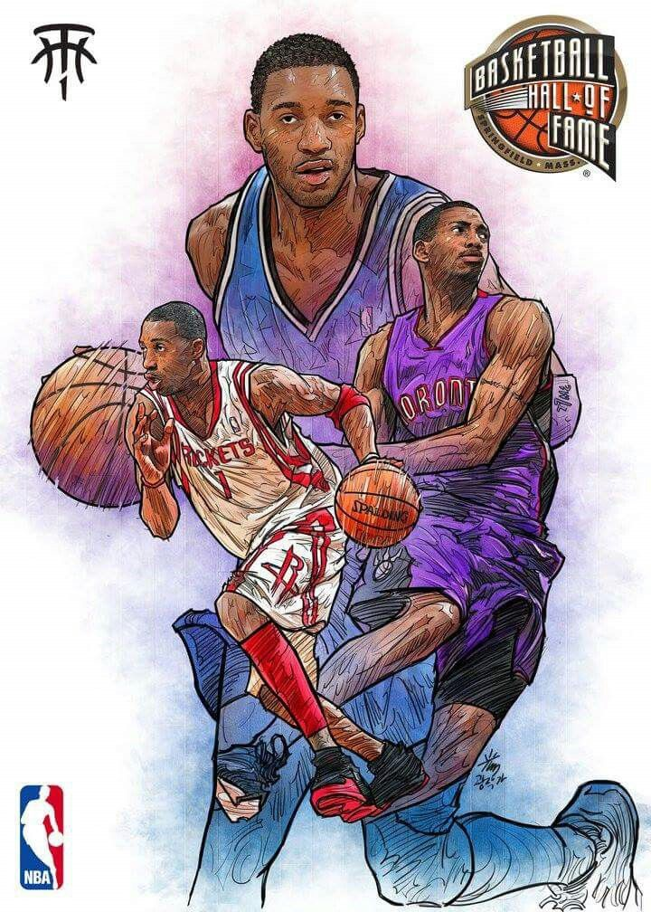 Tracy McGrady is a good player and the 3 people are like 3 different timelines mixed into one picture.