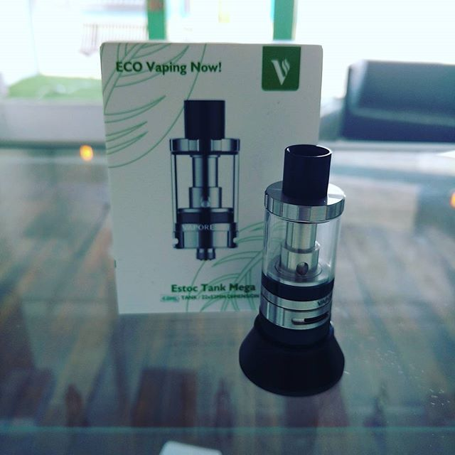 The Vaporesso eStoc Tank is back in stock @vaporaecigs. A great new sub ohm tank available in black or stainless for only $27.95 #restockalert #vaporesso #aussievapers