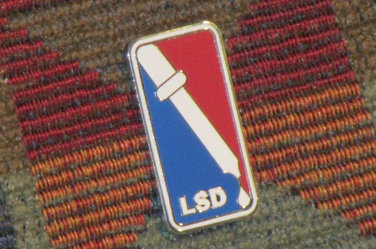 LSD 25 Blotter Art Acid Pschedelic Trippy Basketball Festival Tour Parody Enamel Lapel Hat Pin by RhiaGypsyVintagePins on Etsy https://www.etsy.com/listing/195100483/lsd-25-blotter-art-acid-pschedelic