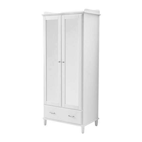 TYSSEDAL Wardrobe IKEA Hinges with integrated dampers catch the door and close it slowly, silently and softly