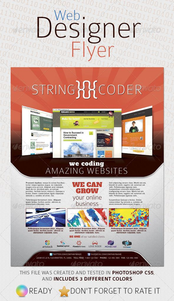 Web Designer Flyer | Web design projects and Print templates