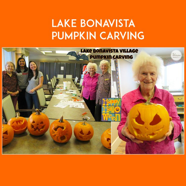 Lake Bonavista Village is getting into the Halloween Spirit! Our residents and students carved out some amazing pumpkins to get ready for the spooky season. They look unBOOlievable!