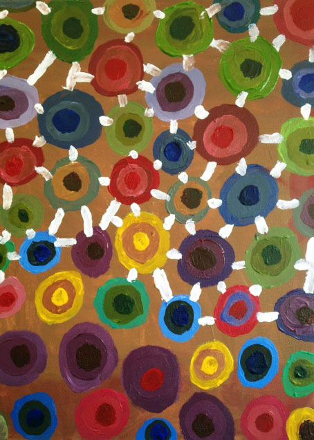 #33   Artist: Gilles Arseneault   Title: Connections   Medium: Acrylic on canvas   Dimensions: 24 in. x 18 in.