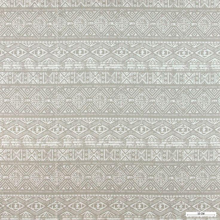 815865 Vævet m sand/hvid abstrakt print