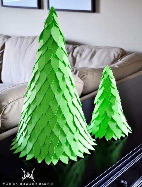 Como fazer uma árvore de natal de EVA - Artesanato fácil, de efeito decorativo surpreendente! ~ VillarteDesign Artesanato