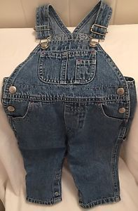 Baby gap Boys Overalls  Blue Jean Cotton 6-12 Months Snap Open Legs EUC | eBay