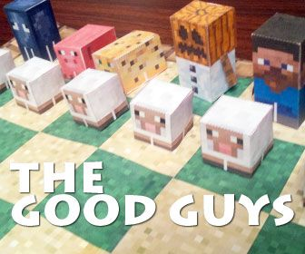Minecraft Papercraft Chess!!!!!! now i NEED to learn to play chess!!!