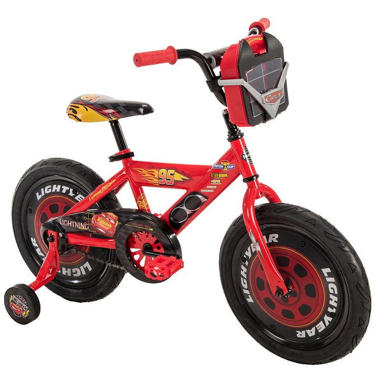 Boys 16 inch Huffy Disney Pixar Cars Bike with Vehicle Storage