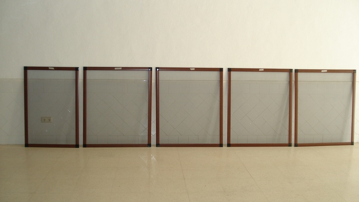 The five woodgrain screens in my workshop  ready to be fitted. www.mosquitonick.ws