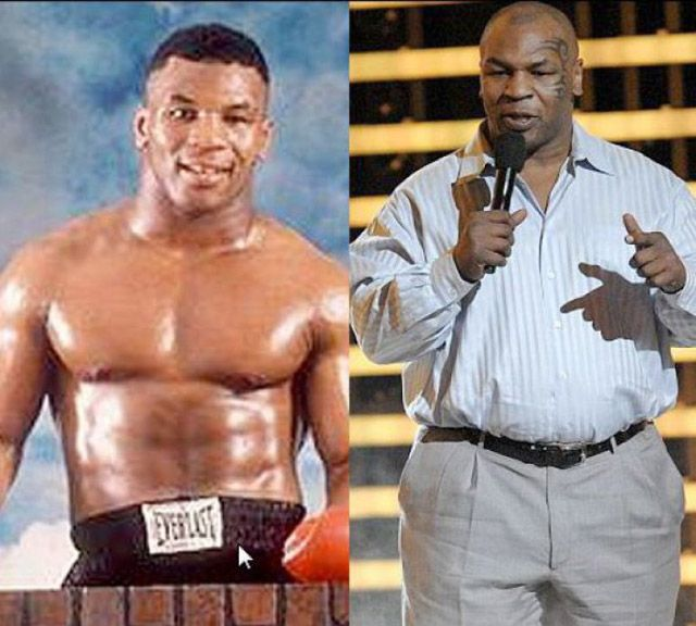 Mike Tyson ~ Celebrities Then and Now