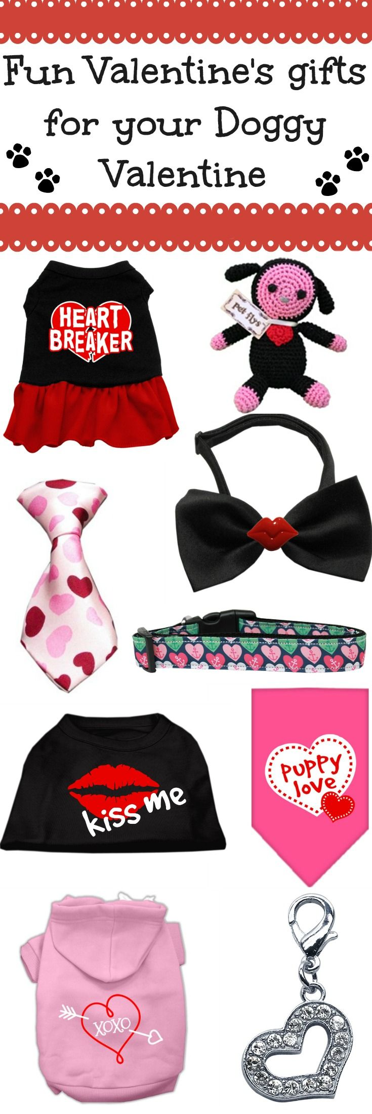 Your pet deserves a treat this Valentine's Day! Find all the best products for your little Valentine this holiday and let the world know just how special your dog or cat is to you! Products include all Valentine's Day themed dog clothes, collars, harnesses, toys and accessories that will really make your pet feel loved.