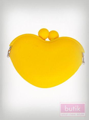 Niezwykle modny silikonowy portfel. Portfel zapinany na silikonowy bigiel. Wymiary: wysokość - 7,5 cm ,szerokość - 9,5 cm.