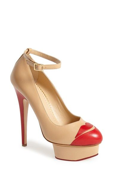 Charlotte Olympia 'Kiss Me Dolores' Platform Pump (Women) available at #Nordstrom