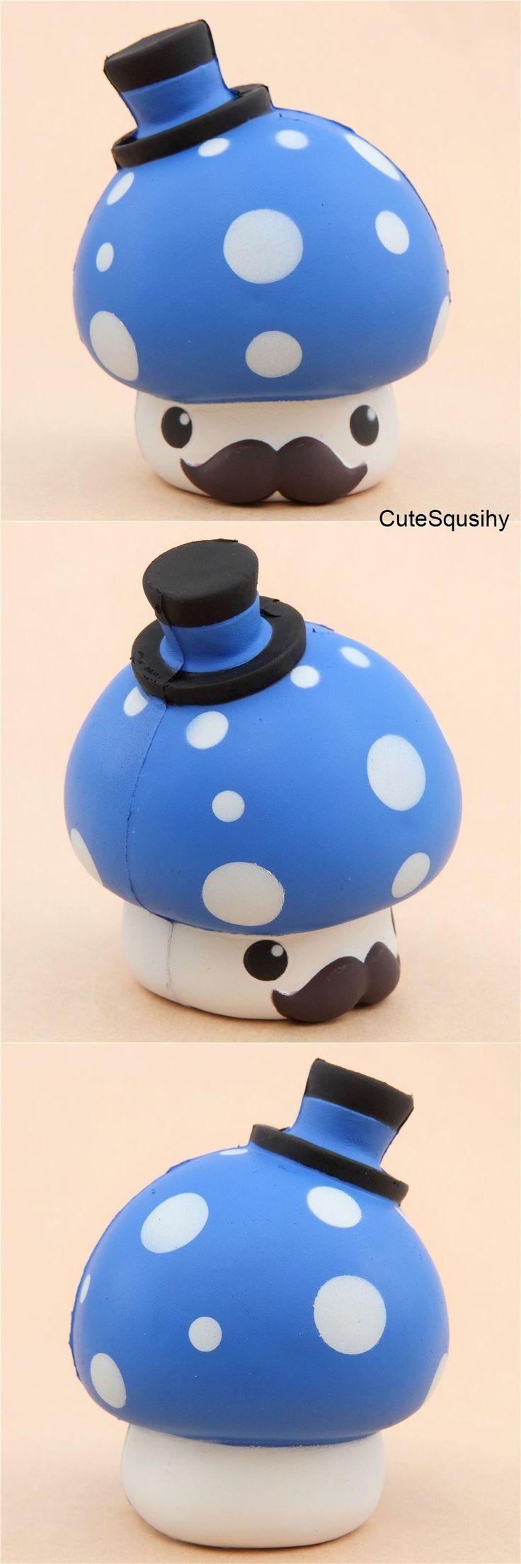 Kawaii blue mushroom squishy!