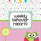 Keep track of your student's weekly behavior reports with this weekly report.  The brightly colored owl theme cover will help you keep track of eve...