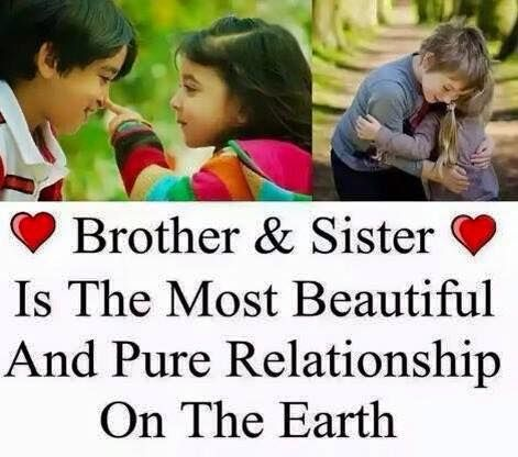 bro and sister relationship