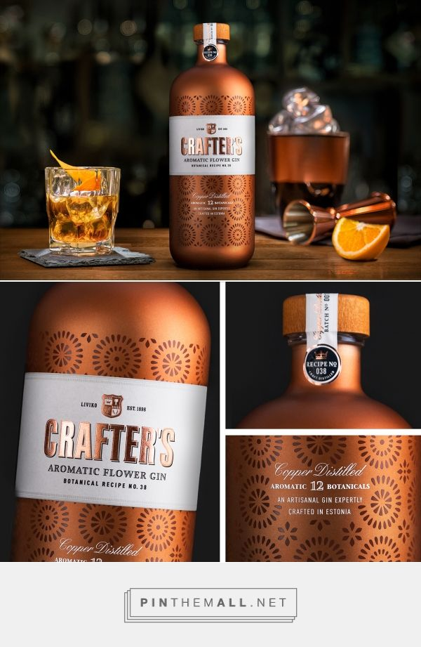 Crafter's Copper Distilled Gin on Behance - created via https://pinthemall.net