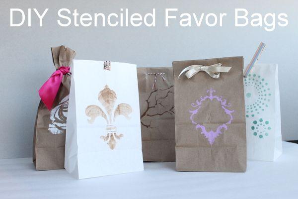 DIY Favor Bag Ideas | The Budget Savvy Bride  via http://thebudgetsavvybride.com/diy-favor-bag-ideas/