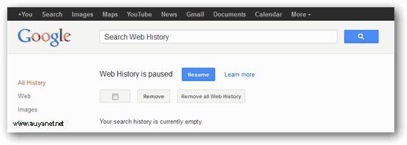 Eliminar Historial de búsquedas en Google