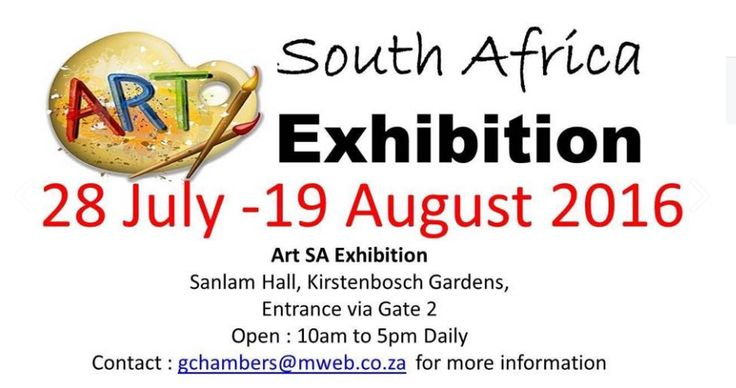 So pleased to be included in the Art South Africa Exhibition here – already…