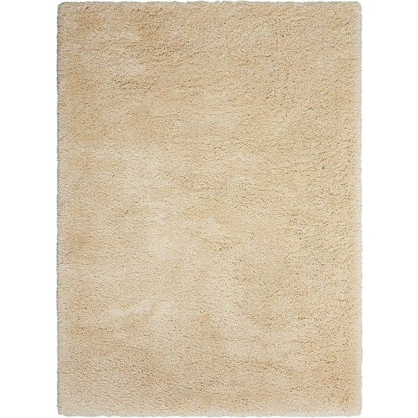 Kathy Ireland Yummy YUM01 Bone Shag Area Rug ❤ liked on Polyvore featuring home, rugs, shag area rugs, cream shag area rug, beige rug, off white rug and off white shag rug
