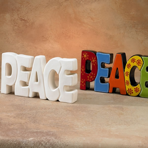 Peace Word Plaque - Purple Package