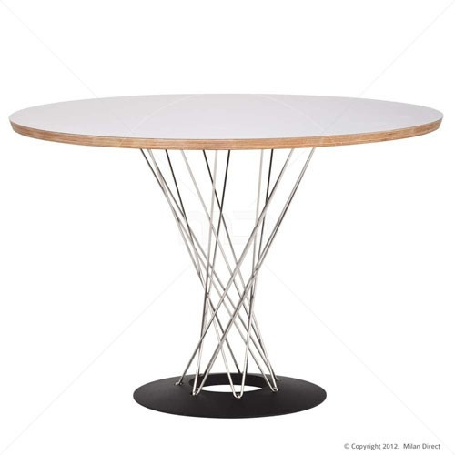 Noguchi Cyclone Dining Table - White - Replica