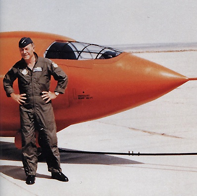 Chuck Yeager & the Bell X-1. First to break the sound barrier.