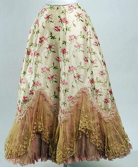 French Silk Petticoat 1895 – 1898