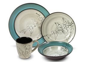 9 Colorful Dinnerware Designs That Belong on Your Table: Song Bird Dinnerware | Mikasa