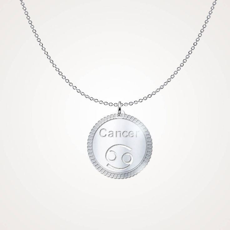 Excited to share the latest addition to my #etsy shop: Cancer horoscope necklace - Cancer astrological necklace - Cancer Zodiac necklace http://etsy.me/2HTcWDd #jewelry #necklace #silver #girls #zodiac #circle #cancer #horoscopenecklace #cancerastrological