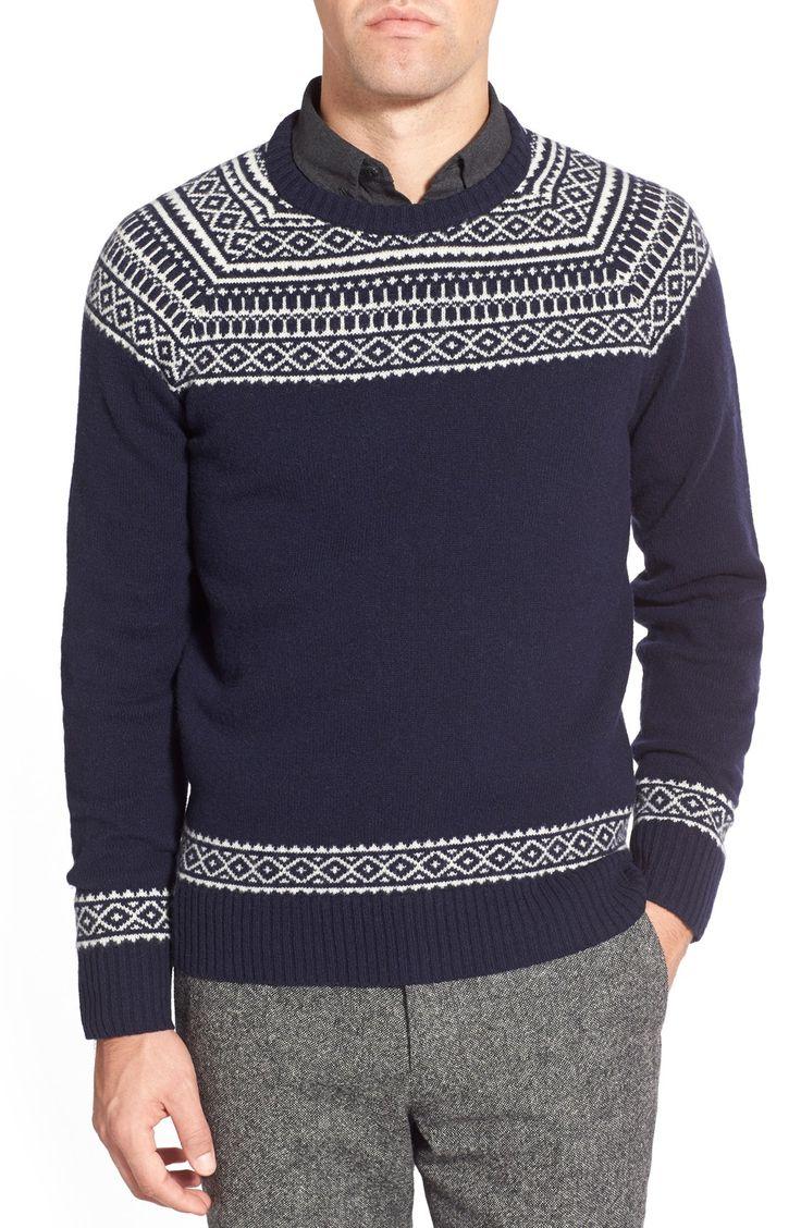 Bonobos Fair Isle Raglan Sleeve Lambswool Sweater | Sweaters ...