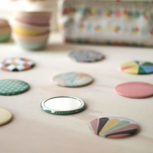 Pocket Mirrors by LoveHate from The Handmade Lover via The Third Row