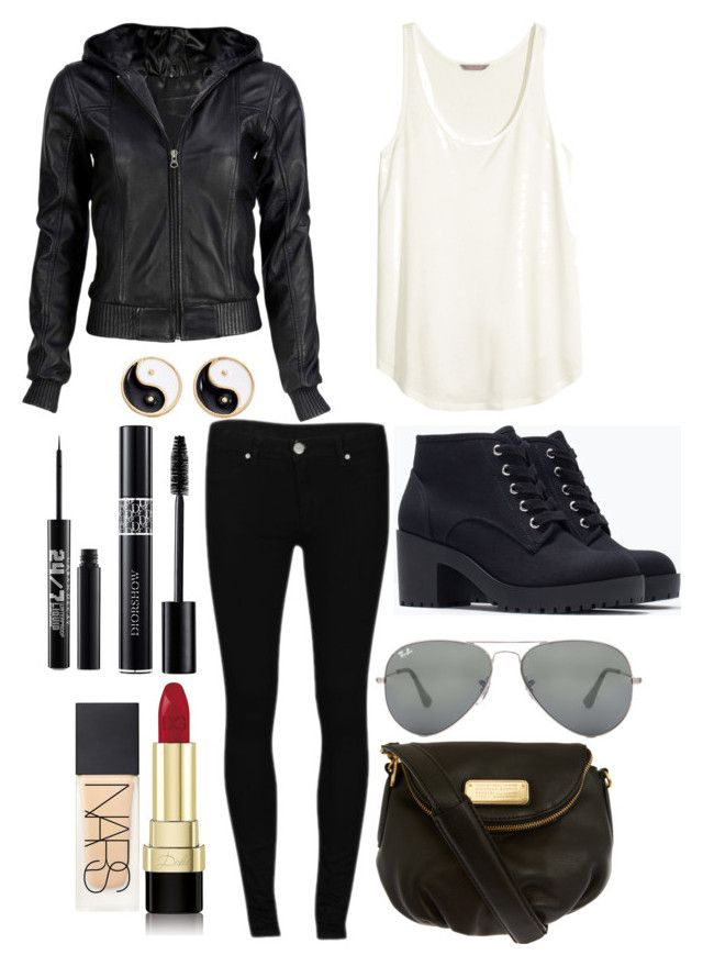 """""""Teen Wolf- Derek Hale Inspired Outfit"""" by lili-c ❤ liked on Polyvore featuring moda, H&M, 2nd One, VIPARO, Zara, Urban Decay, Dolce&Gabbana, Ray-Ban, NARS Cosmetics e Mudd"""