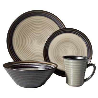 Sango Black Tropical 16-pc. Dinnerware Set