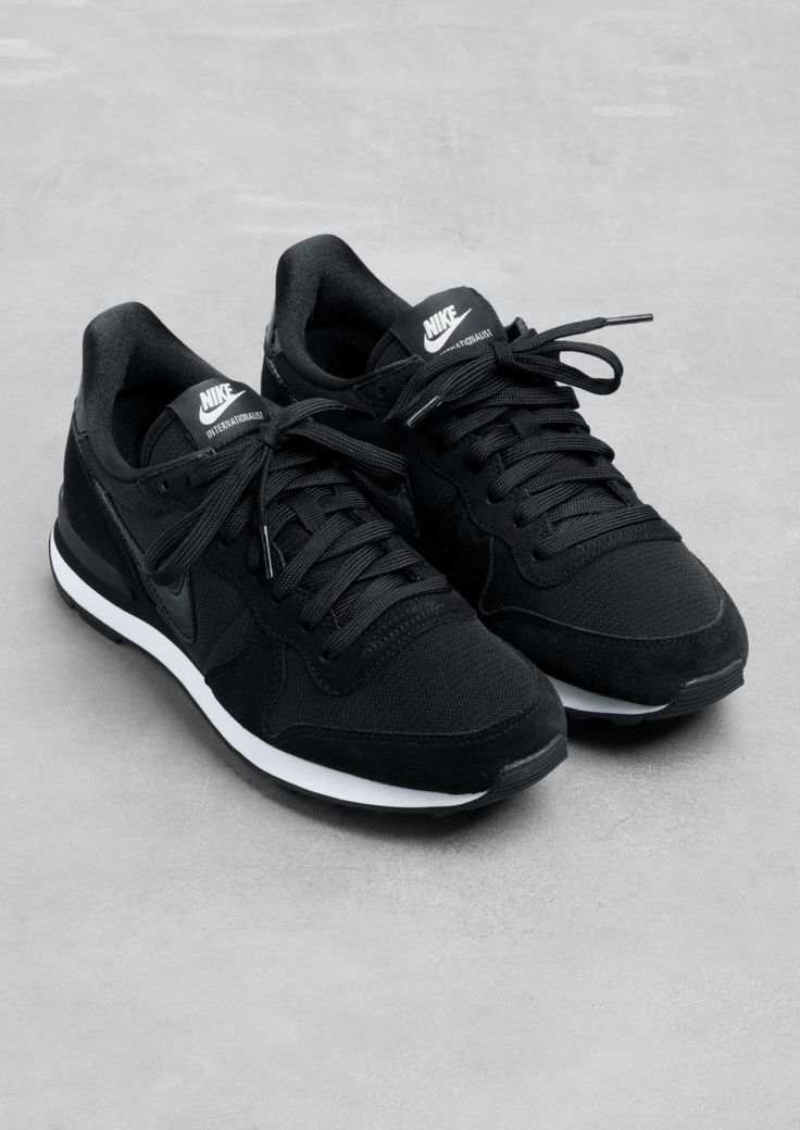 Nike Internationalist | Black | Nike sneakers, Running ...