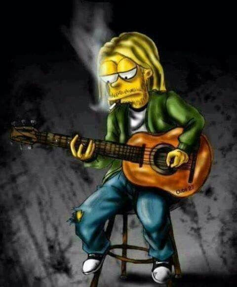 Kurt as a Simpson