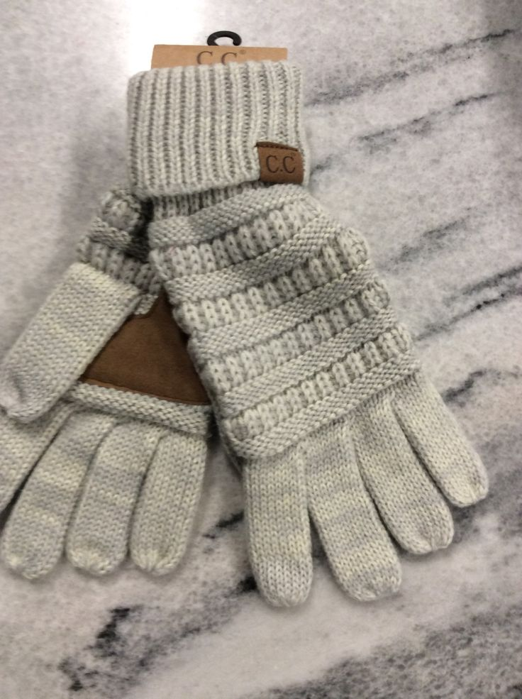 Keep your fingers warm in these adorable CC Gloves. Don't miss a single text or social media update with these gloves. They work on touch screen devices, so you don't have to take them off to stay con