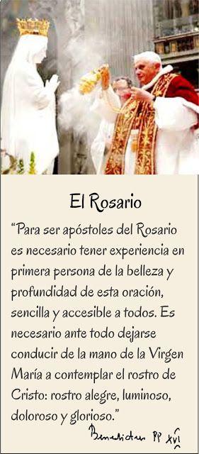 TARJETAS Y ORACIONES CATOLICAS: FRASES DEL ROSARIO BENEDICTO XVI