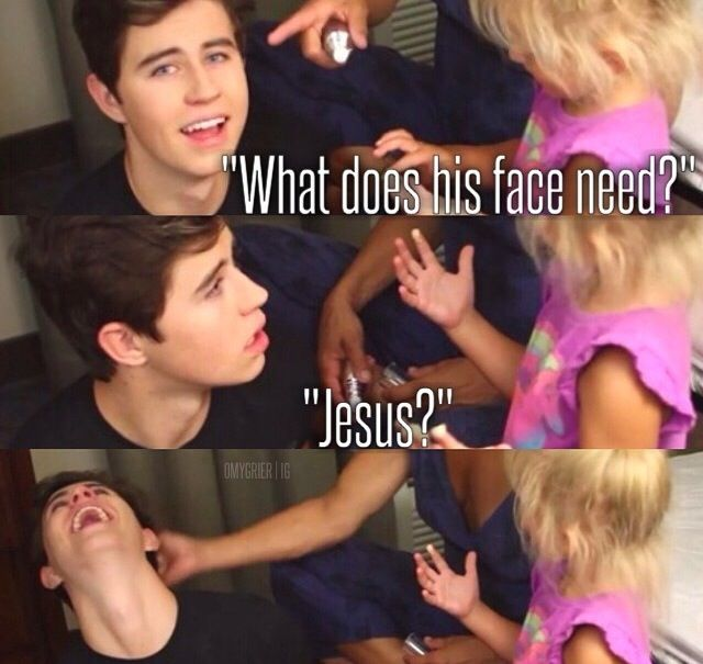Loved this part. I seriously couldn't stop laughing! Nash Grier and Skylyn Grier! She is Queen of vine