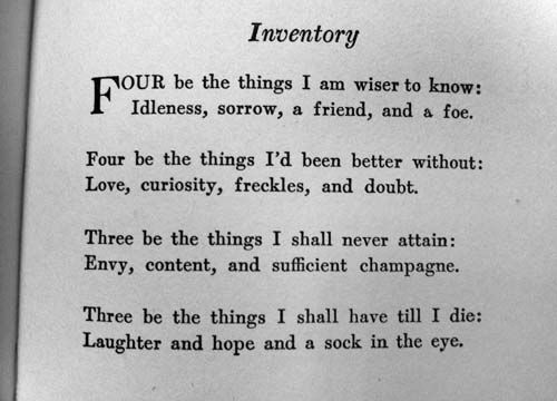 12 best Poetry I Like images on Pinterest Poetry, Books and - dorothy parker resume