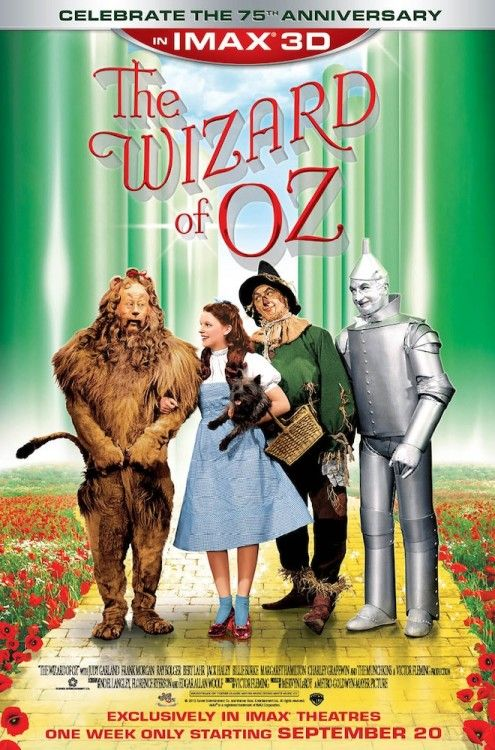 The Wizard of Oz IMAX 3D releasing on September 20, 2013 in theaters! A glorious restoration and a great way to introduce the kids to a classic!