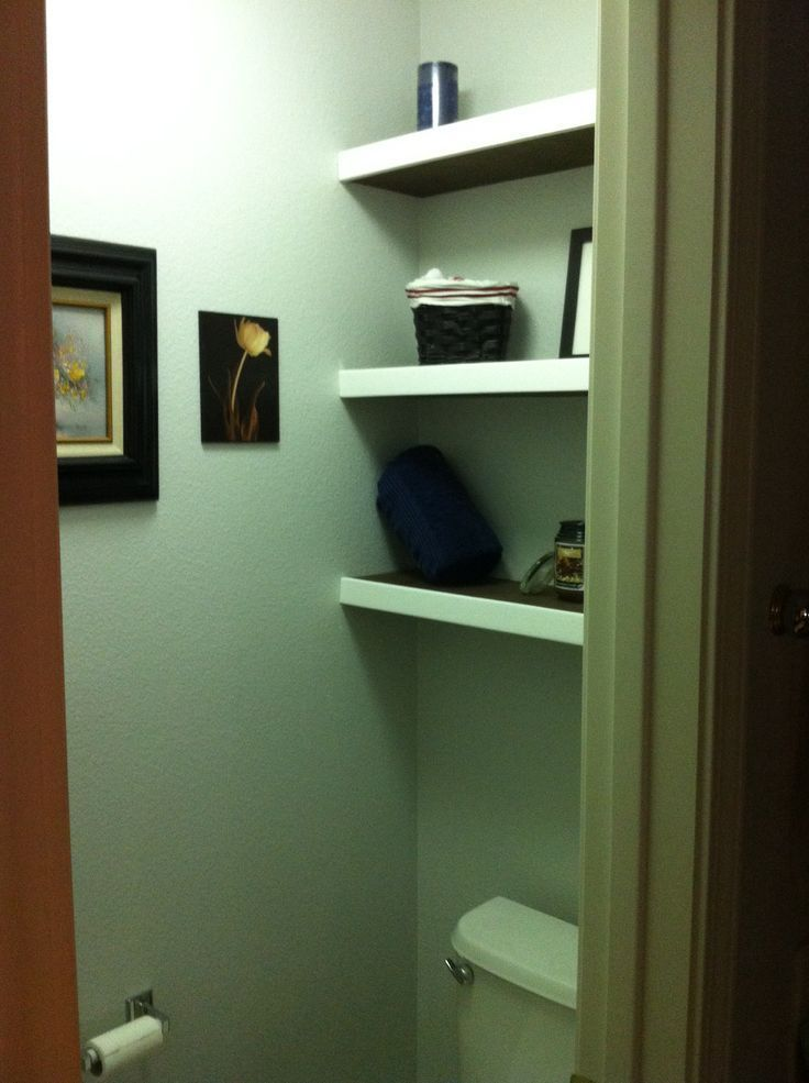Floating shelves above toilet.   – Projects completed – #completed #Floating #Pr…   – most beautiful shelves